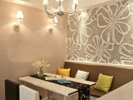 华丽餐厅拼花瓷砖背景墙图片欣赏