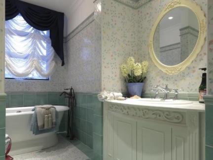 时尚北欧公寓卫生间浴室柜装修设计