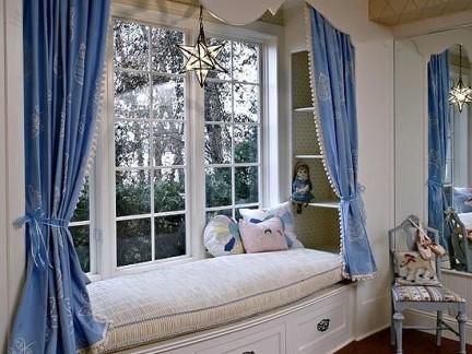 经典欧式别墅客厅飘窗卡座设计图