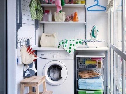 都市四居室阳台洗衣机装修设计