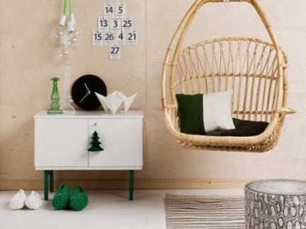 简约混搭风格客厅白色储物柜效果展示图