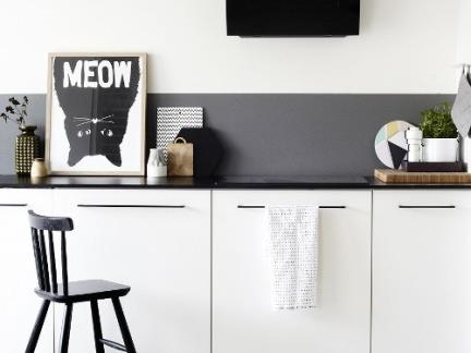 时尚美式厨房白色橱柜门装修设计