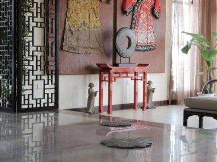 中式风格客厅白色窗帘效果图