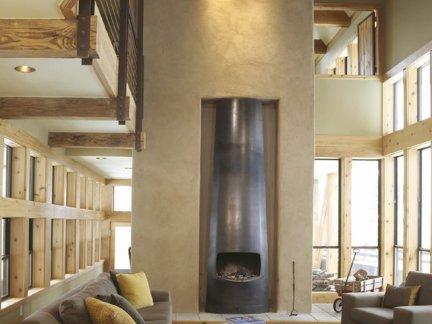 大气简约混搭风格客厅灰色沙发实景效果图