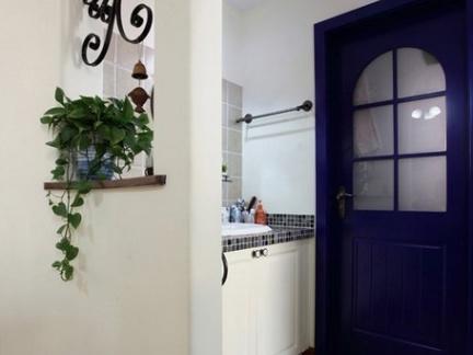 地中海风格风格卫生间白色隔断设计效果图