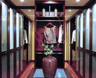 中式风格衣帽间咖啡色衣柜图册