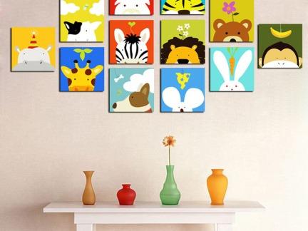 清新现代儿童房墙面装饰效果图