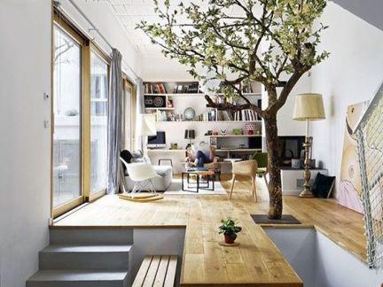 中式风格客厅白色书柜效果图