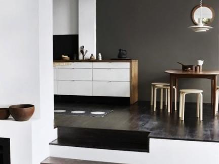 新中式雅致餐厅白色储物柜装修设计