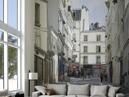 现代北欧风格别墅客厅灰色沙发样板间欣赏