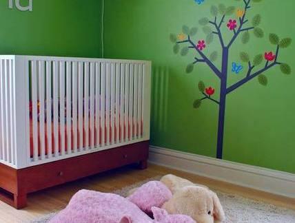 简单儿童房婴儿床装修设计