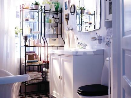 宜家风格卫生间白色窗帘效果图