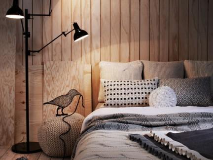 北欧风格卧室配原木色榻榻米床装修效果图