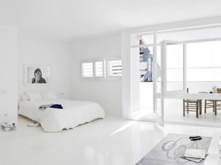 现代白色简约卧室餐厅玻璃隔断效果图