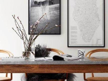 美式长型实木书桌装修设计