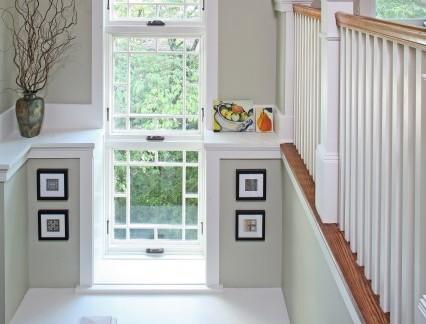 北欧风格阁楼白色楼梯装修效果图