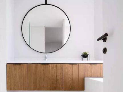 简约淋浴间浴室柜装修设计