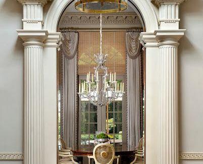 美式豪华别墅客厅设计配米色吊顶装修效果图