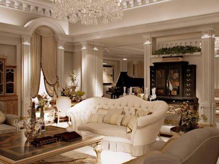 奢华欧式风格客厅吊灯设计图片