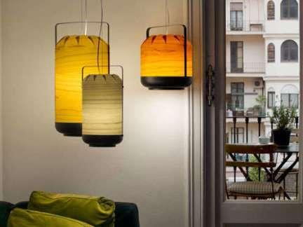 中式卧室个性床头吊灯装修设计