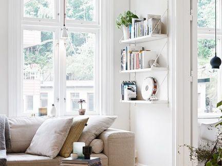 淡雅客厅白色飘窗装修案例