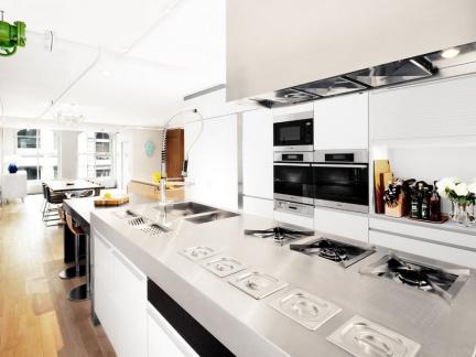 简约风格厨房白色吊顶效果图