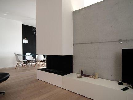 现代大型客厅原木色地板装修设计