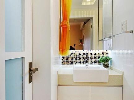 卫生间宜家白色洗手台设计图