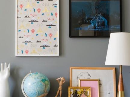 新中式客厅原木色装饰柜摆件图片欣赏