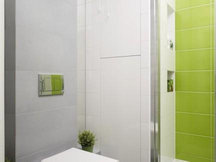 创意设计时尚卫生间白色墙面瓷砖储物柜图片欣赏