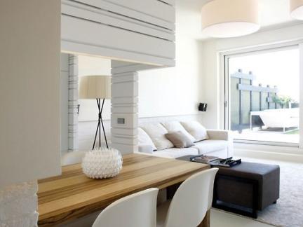 优雅时尚韩式风格客厅原木色吧台设计图
