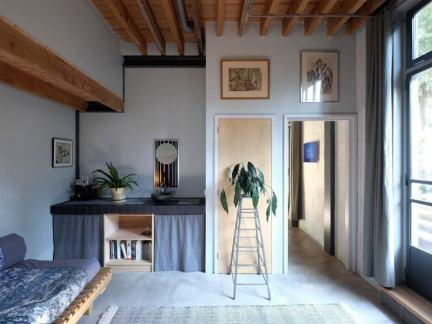简欧风格客厅原木色吊顶效果图
