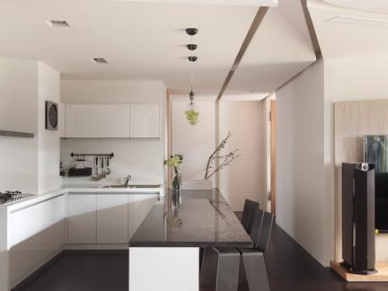 当代开放式厨房吊顶图片欣赏
