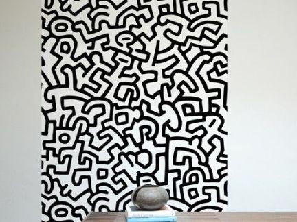 中式客厅白色墙面壁纸装饰欣赏