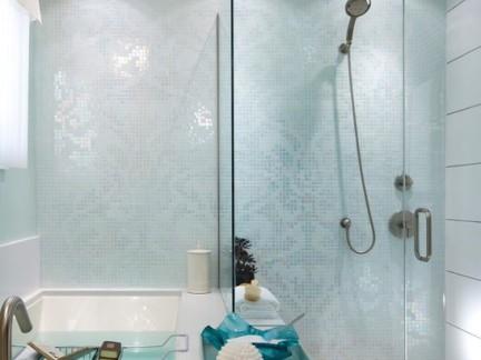 现代简约风格卫生间白色淋浴间样板间