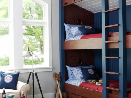 彩色简欧风格儿童房搭配简单上下床设计图