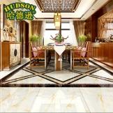 哈德逊瓷砖 金刚釉欧式时尚地面砖仿玉石釉面砖客厅地砖卧室地板砖 浅晶玉地砖 800*800