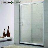彩洲卫浴 一字型淋浴房移门式整体淋浴房定制简易淋浴房
