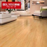 贝尔地板 强化复合木地板12mm 家用防水木地板 封腊淡雅WL1009