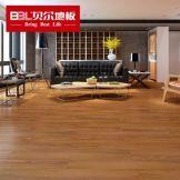 贝尔地板 家用环保木地板强化复合地板耐磨U型镜面防水 TM1004