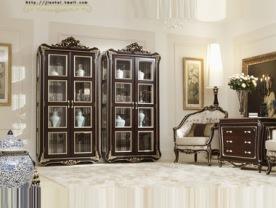 建泰 美式实木酒柜 客厅装饰柜 欧式做旧展示柜 别墅客厅实木酒柜图片