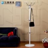 三强 金属衣帽架创意 卧室客厅挂衣架铁艺 时尚衣服架子 客厅衣架