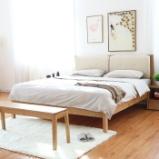 作木坊 床 全实木床 双人床 北欧床 1.8米大床婚床简易卧室家具白橡木床A1705 单床 1.5*2(m)图片