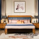 作木坊 床 全实木床北欧时尚风格床现代卧室套装双人床木床 A202 单床 1.8*2(m)图片