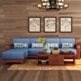光明家具 实木沙发组合中式实木沙发全实木38528 三人位+贵妃(不含几柜)图片
