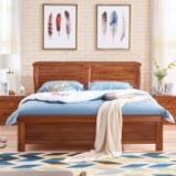 光明家具 新品 实木床进口乌金木实木床卧室双人床1.8米床15559 1.8米空体床图片