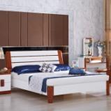光明家具 实木床1.5米双人床现代简约1505 空体床 1500*2000图片
