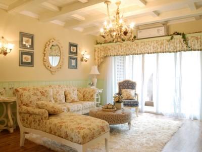 田园风格-131.03平米三居室装修样板间
