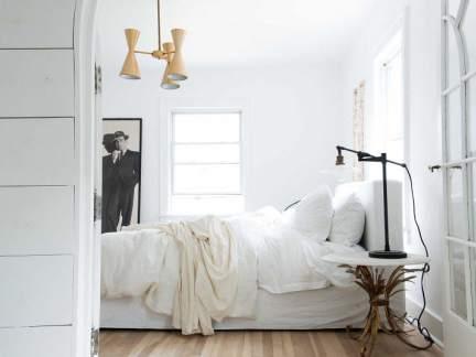 纯白北欧风格小清新卧室装修实景图