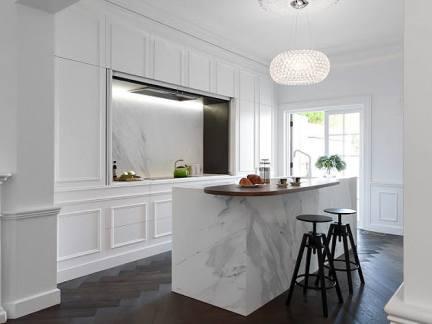 简欧风格典雅白色厨房装修实景图